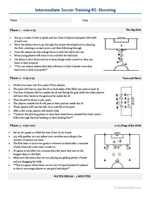 Essential Soccer Practice Plans ESoccer Drills - Soccer lesson plan template