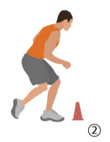 Linear Run & Stick Soccer Conditioning Drill - Part 2