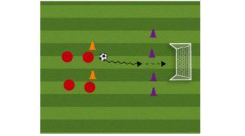 Breakaway Soccer Shooting Drill