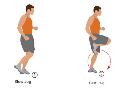 Fast Leg Run Soccer Conditioning Drill