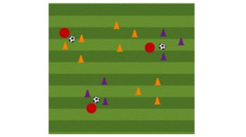 Triangles Soccer Dribbling Drill