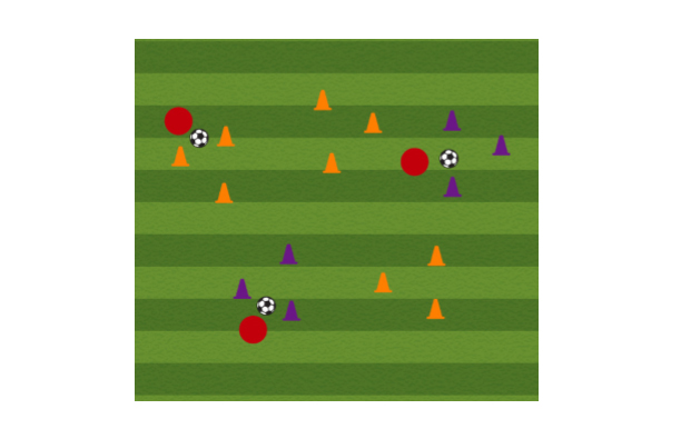 Triangles Soccer Dribbling Drill