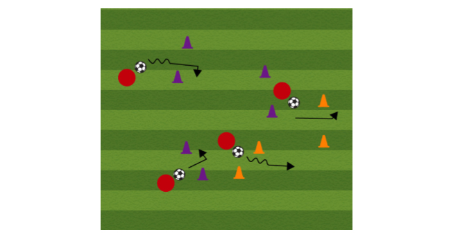 Through the Gate Soccer Dribbling Drill