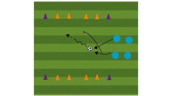 4 Goal Challenge Soccer Dribbling Drill