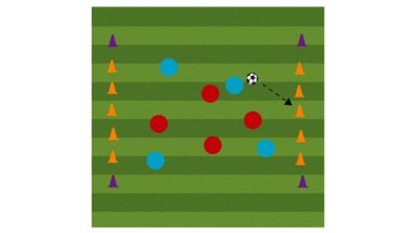5 cone knockdown soccer shooting drill