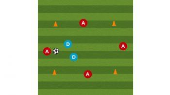 split the seam soccer defensive drill featured
