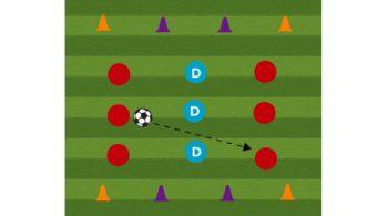 three zone passing drill