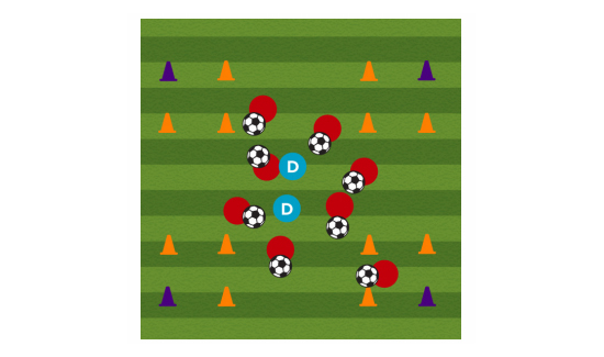 zombie invasion soccer dibbling drill