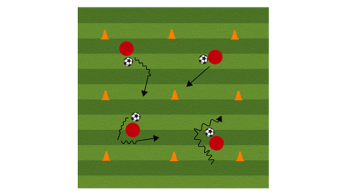 dribbling grid soccer drill